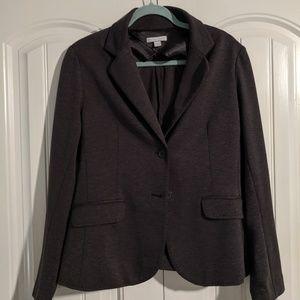 NY&Co Gray Cozy Comfortable Sweater Blazer